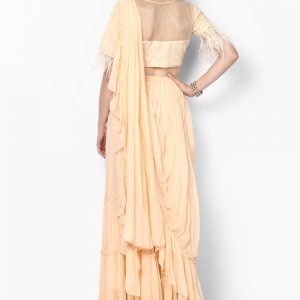 cream-pre-stitched-ruffled-saree-with-blouse-back