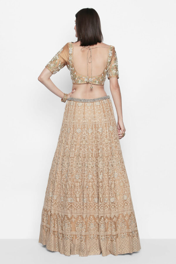 Niyoosh-beige-heavy-embroidered-lehenga-back