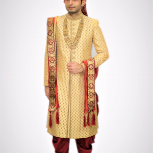 Golden Sherwani Veda clothing