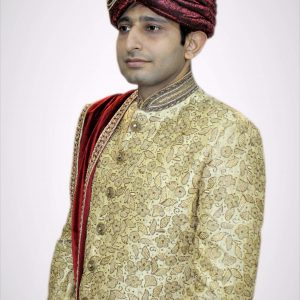 Golden Groom Sherwani