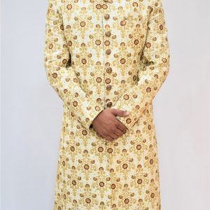 Veda Clothing: Golden White Sherwani Style S-10
