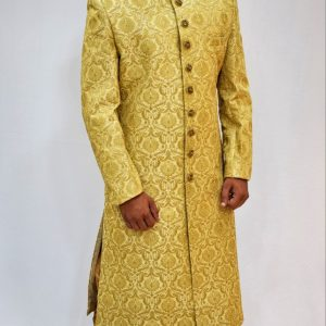 Veda Clothing: Golden White Sherwani Style S-4