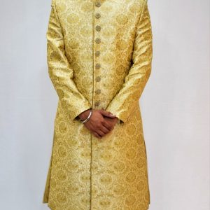 Veda Clothing: Golden White Sherwani Style S-6