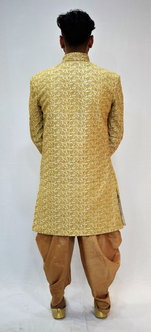 Veda Clothing: Golden White Sherwani Style S-7