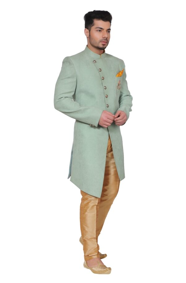 Light Green sherwani on rent