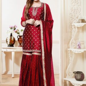 Purple Sharara on Rent