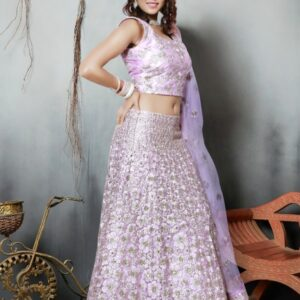 Lavender Lehenga on Rent
