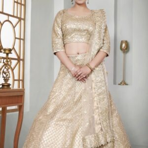 Beautiful Gold Lehenga on Rent