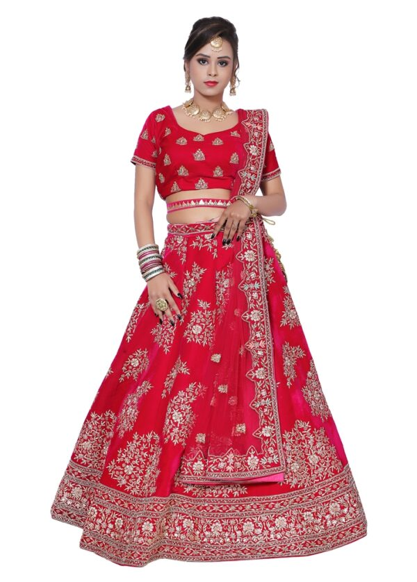 Beautiful Pink Bridal Lehenga on Rent