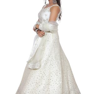 Beautiful White Lehenga on Rent