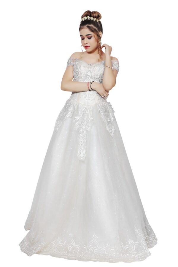 White Gown on Rent